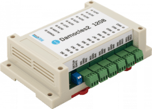 HW group Damocles2 1208 Industrial I/O with enhanced IP security and OC connectors