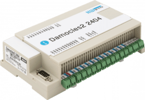 HW group Damocles2 2404 Secure industrial I/O device with PoE and Telco -48 V power options
