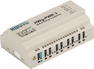 HW group PWR captures data from external meters on the M-Bus and makes it accessible via Ethernet
