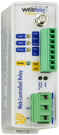 ControlByWeb WebRealy Wireless Single Relay, Single Input, Up to 4 Temperature Sensors