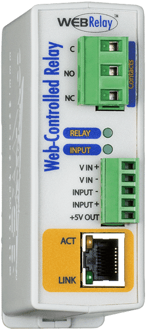 ControlByWeb WebRelay Single Relay & Input Module