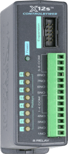 ControlByWeb X-12s Eight-Relay Expansion Module