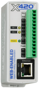 ControlByWeb X-420 Web-Enabled Instrumentation-Grade Data Acquisition