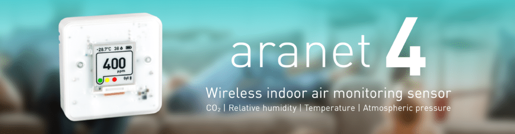 Aranet4 Innovative Wireless Indoor Air Quality Sensor with Display
