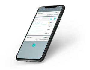 Air quality monitoring with mobile app