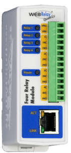 ControlByWeb WebRelay-Quad™ 4 Web-Controlled Relays