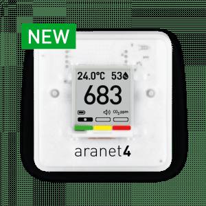 Aranet4 langaton anturi näytöllä sisätilan ilmanlaadun valvontaan