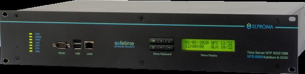 Elproma NTS-5000 ePRTC PTP GrandMaster NTP Stratum-1 server